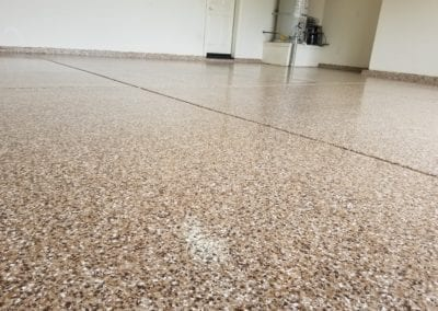 Saddle tan epoxy blended flakes